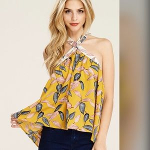 Stunning Tie back halter top in floral print!